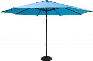 Solar line parasol Ø300 cm Grå/Lysblå