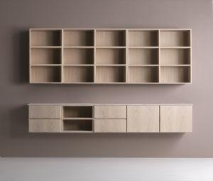 Klim Furniture - Ophængt reolsystem 2047 bred