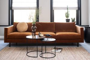 Bloom Check - 4 pers. sofa - 261 cm