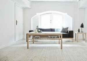 Haslev 420 sofabord inkl. hylde & skuffe 85x130 cm