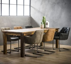Oregon - Spisebordsstol - Vintage læderlook - Fås i 3 farver