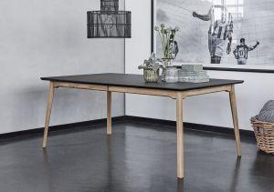 Haslev Note spisebord sort linoleum flere størrelser