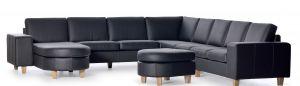 designsofa Classic hjørnesofa m/ chaiselong  324x294 cm