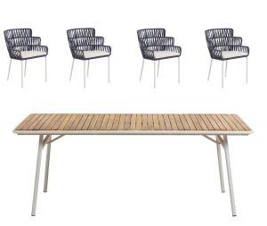 Robyn havebord inkl. 4 stole - UDSTILLINGSMODEL