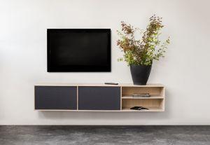 Square Exclusive Lowboard 180x34,5x42 cm inkl. låger & hylde