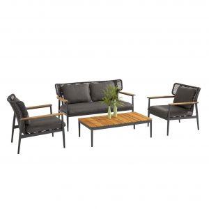 4SO Arturo loungesæt sofa inkl. 2 stole 156/81 cm