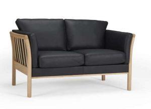 Urban living 129 2 pers. sofa læder / Bøg