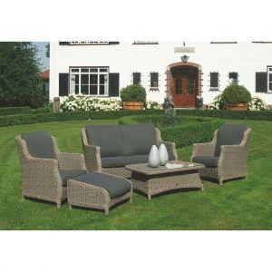 4SO Brighton loungesæt sofa inkl. 2 stole og bord 164/81 cm