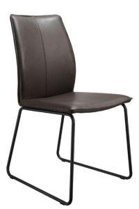 Casø Sweet seat sort stål Mørkbrun læder