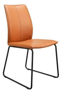 Casø Set seat sort stål Cognac Læder
