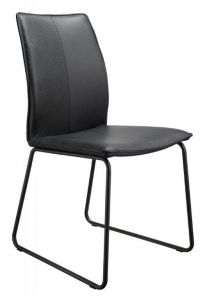 Casø Sweet seat sort stål sort læder