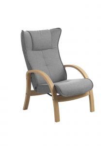 Conform Easy stol - Eg hvidolie lys grå uld stof