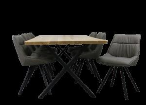 Løvenholm plankebord 100x220 cm inkl. 6 stole