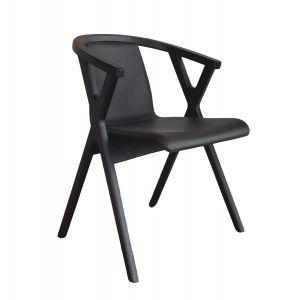 Casø Mr X spisebordsstol sort eg sort læder
