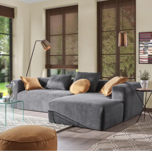 Laforma Blok chaiselong sofa (højre) 300x174 cm - Grå