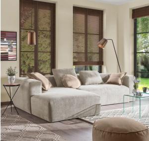 Laforma Blok chaiselong sofa (venstre) 300x174 cm - Grå