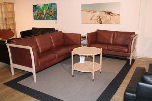 Stouby Stockholm - 3+2 sofasæt - Bøffel læder - Udstillingsmodel