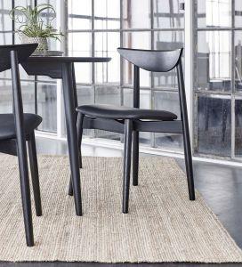 Haslev Symphony spisebordsstol læder
