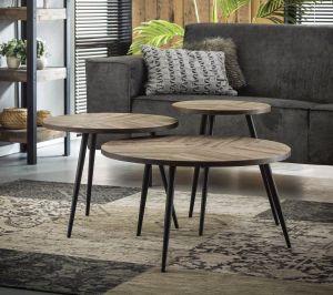 Teca sofabord sæt m/ 3 borde