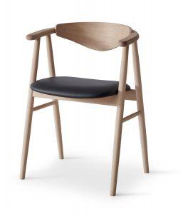 Findahl by Hammel Tradition stol træ ryg - Stof (vist i læder)