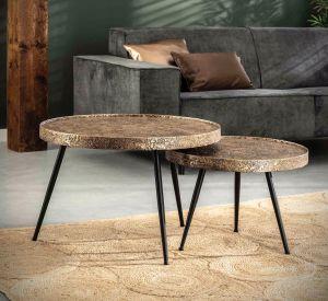 Upright sofabord sæt m/ 2 borde